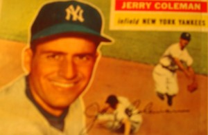 Original Baseball card 1956 Topps New York Yankees IF Jerry Coleman
