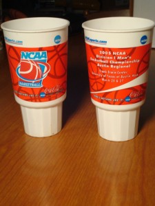 NCAAM - Official Commemorative Drink Cup for 2005 Men's Regional Tournament from The Erwin Center in Austin, TX