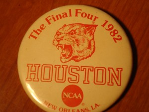 NCAAM - Official Pin 1982 Final Four Official Houston Cougars Pin