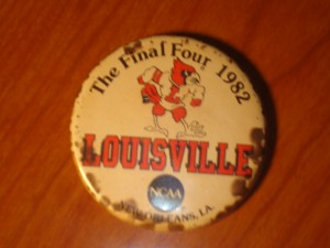 NCAAM - Official Pin 1982 Men's Basketball Final Four from New Orleans, LA featuring the Louisville University Cardinals coached by Denny Crum