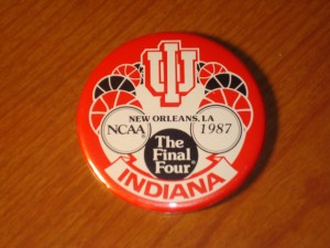 NCAAM - Official Pin 1987 Men's Basketball Final Four from New Orleans, LA featuring Indiana University Hoosiers coached by Bob Knight