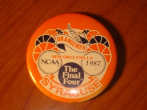 NCAAM - Official Pin 1987 Men's Basketball Final Four from New Orleans Superdome, LA featuring Syracuse University Orangemen coached by Jim Boeheim