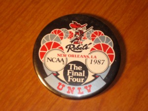 NCAAM - Official Pin 1987 Men's Basketball Final Four from New Orleans Superdome featuring the UNLV Running Rebels coached by Jerry Tarkanian