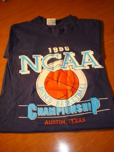 NCAAM - Official T-shirt 1990 Men's Basketball Championsip Midwest Regional from The Erwin Center, Universtiy of Texas, Austin, TX