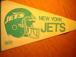 NFL - Official Pennant 1982 West Division Champions New York Jets (Coach Walt Michaels)