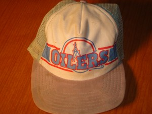 Original NFL Souvenir Cap 1978 Houston Oilers coached by Bum Phillips in RB Earl Campbell rookie season