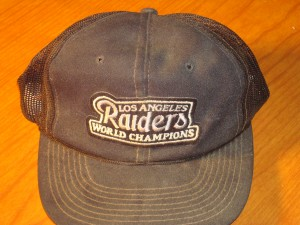 NFL - Original Souvenir Cap 1981 Super Bowl XV - Oakland Raiders vs Philadelphia Eagles