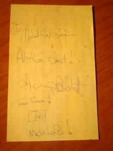 NHL - Original 1985 Autograph NHL Toronto Maple Leafs Goalie Tim Bernhardt for Madison Square Garden, The Sports Place, 302 E. 6th Street, Austin, TX