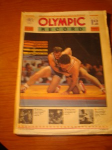 Official August 9, 1984 Daily Start Times and Results OLYMPIC Record featuring Men's Wrestling