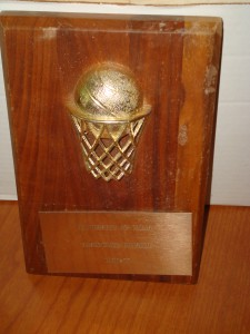 Official Booster Plaque for 1976 - 1977 University of Texas Men's Basketball Team