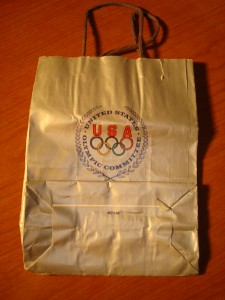 Official Handbag of the 1984 United States Olympic Committee for the Los Angeles Games
