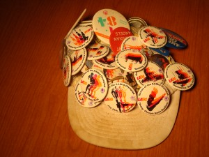 Official Hat and Pins 1984 Los Angeles Olympic Games