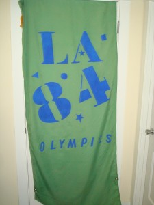 Official Light Pole Banner 1984 Los Angeles Olympic Games