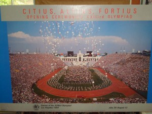 Official Poster 1984 Los Angeles Olympic Games Opening Ceremony, July 28, 1984