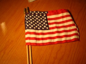 Official Souvenier American Flags of 1984 Los Angeles Olympic Games Sold By Vendors
