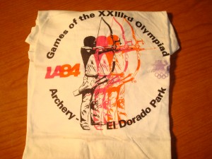 Official T-shirt 1984 Los Angeles Olympics Archery Competition from El orado Park