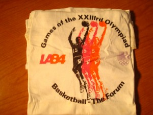 Official T-shirt 1984 Los Angeles Olympics Basketball Competition from The Forum in Los Angeles, CA