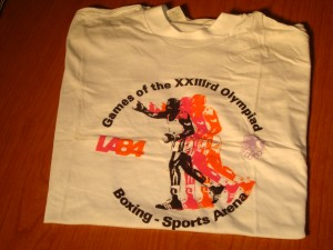 Official T-shirt 1984 Los Angeles Olympics Boxing Competition at the L A Sports Arena