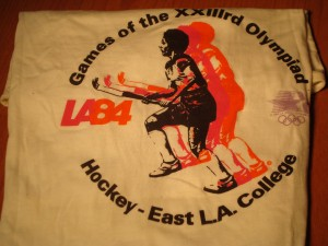 Official T-shirt 1984 Los Angeles Olympics Field Hockey