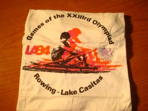 Official T-shirt 1984 Los Angeles Olympics Rowing Competition from Lake Casitas, Ventura County, CA