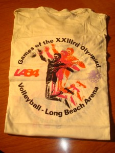 Official T-shirt 1984 Los Angeles Olympics Volleyball Competition from Long Beach Arena