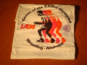 Official T-shirt 1984 Los Angles Olympics Wrestling Competition from Anaheim