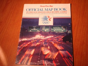 Official Thomas Bros. Mapbook for 1984 Los Angeles Olympics Games