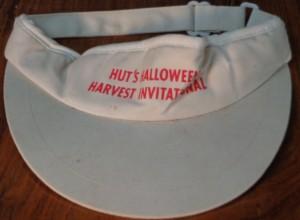 Official Visor 1986 Hut's Halloween Invitational Golf Tournament at Barton Hills Country Club, Austin, TX