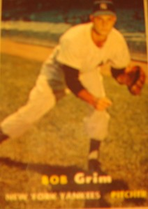 Origianl Baseball Card 1957 Topps New York Yankees P Bob Grim