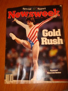Original August 13, 1984 Edition of Newsweek Magazine featuring USA Women's Gymnastics Individual All Around Gold Medal Winner Mary Lou Retton leading America's Gold Rush in Los Angeles.