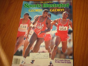 Original August 1984 Los Angeles Olympic Games Edition of Sports Illustrated featuring Carl Lewis winning 4th Gold