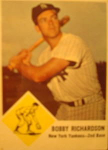 Original Baseball Card 1957 Bowman New York Yankees 2B Bobby Richardson