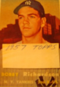 Original Baseball Card 1957 Topps New York Yankees 2B Bobby Richardson