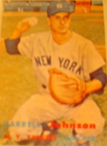 Original Baseball Card 1957 Topps New York Yankees C Darrell Johnson