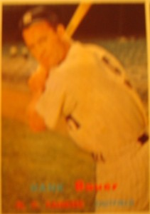 Original Baseball Card 1957 Topps New York Yankees OF Hank Bauer