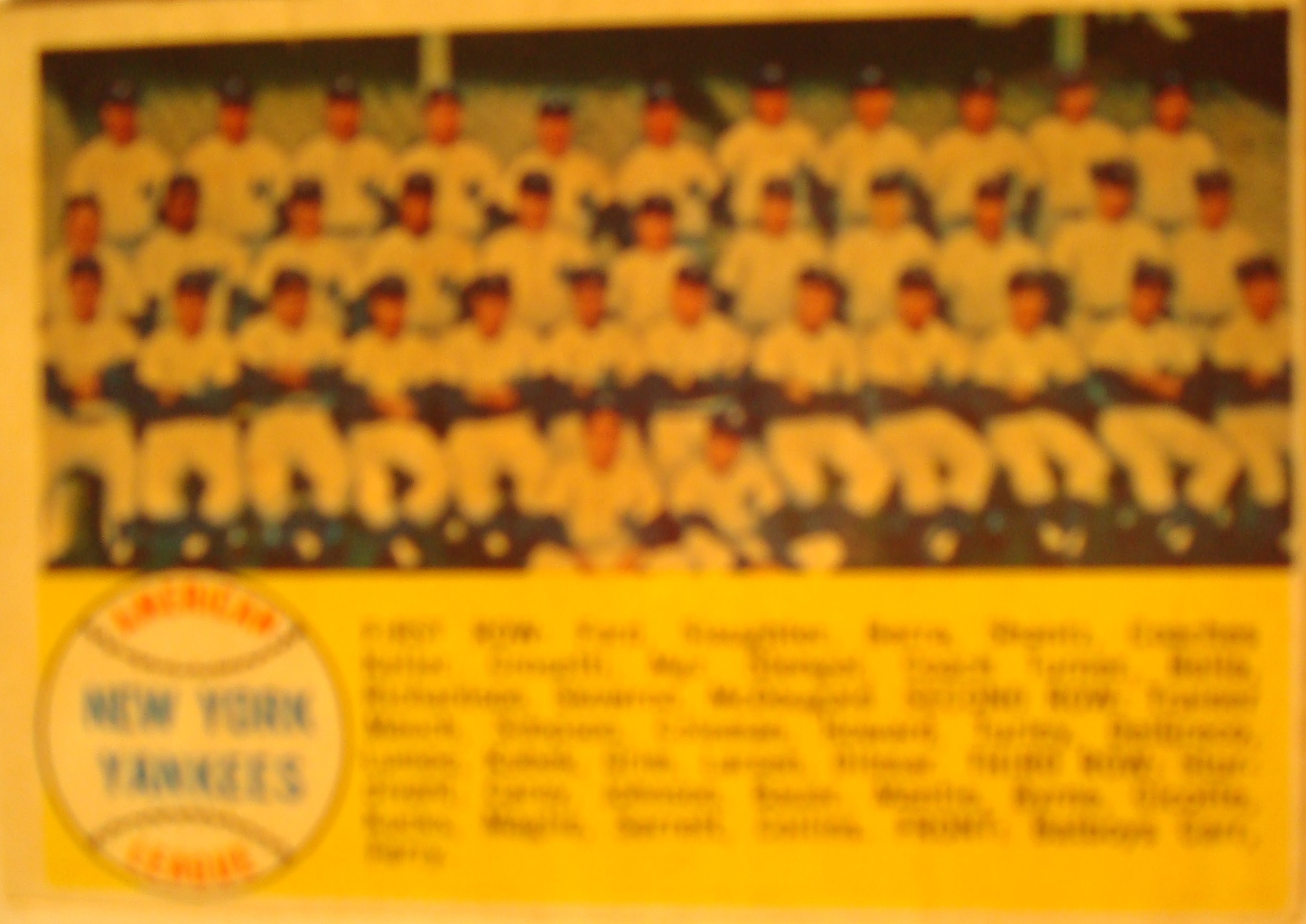 Photo of Bone Daddy's 1957 New York Yankees Baseball Card Collection
