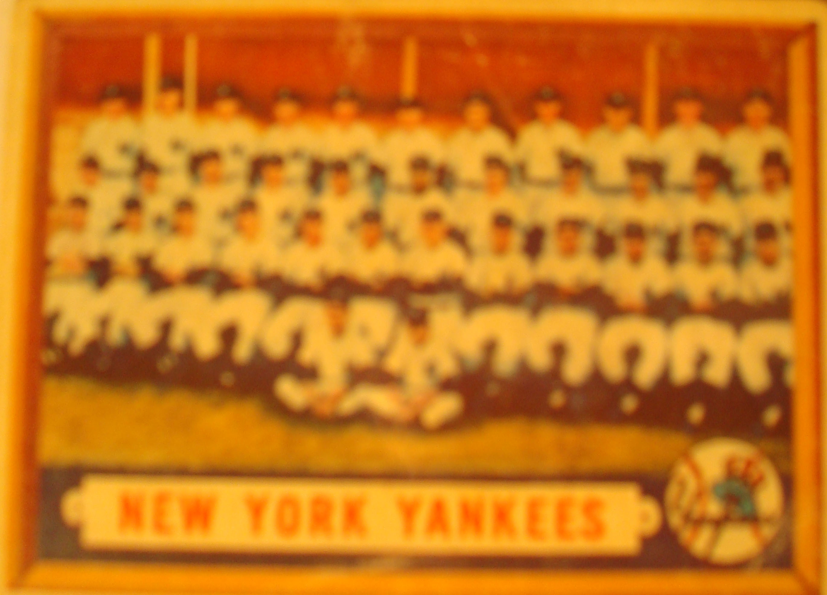 Photo of Bone Daddy's 1958 New York Yankees Baseball Card Collection