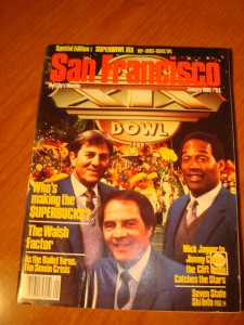 Original January 1985 San Francisco's The City Monthly Magazine's NFL Super Bowl XIX Special Edition featuring ABC Broadcast Team of Don Meredith, Frank Gifford & O J Simpson