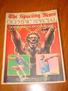 Original July 1984 Edition of The Sporting News Olympic Special and tribute to Champions in Courage