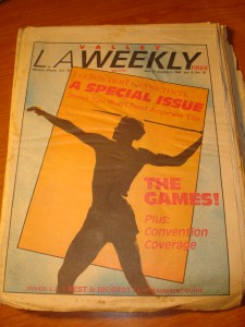 Original July 27, 1984 Edition of The Valley L. A. Weekly Special Salute to the Los Angeles Olympic Games