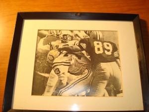 Original Picture 1957 NFL Champion Baltimore Colts with QB Johnny Unitas & G Art Donovan vs New Orleans Saints DT Clovis Swinney