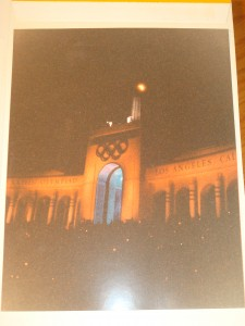 Original Picture Closing Ceremoies 1984 Los Angeles Olympics from LA Memorial Coliseum