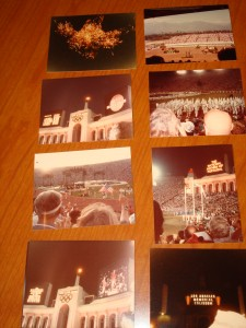 Original Pictures of Closing Ceremonies 1984 Los Angeles Olympics at the Los Angeles Memorial featuring Men's Marathon Gold Medal Winner & Polish National Anthem, the march of the athletes.