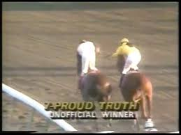 Photo of Horse Racing 1985 Florida Derby With Host Jim McKay Featuring Winner Proud Truth