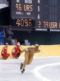 Photo of 1980 Lake Placid Winter Olympics Men's 500m Speed Skating Finals With USA Eric Heiden