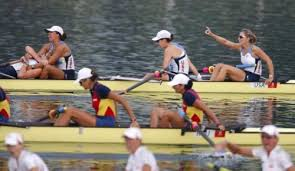 Photo of Olympics 1984 L A Games Day 9 Women's Rowing Coxed Fours Final