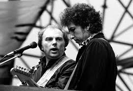 Photo of The Band with Van Morrison – Turn Up Your Radio & Bob Dylan – Forever Young & I Will Be Released