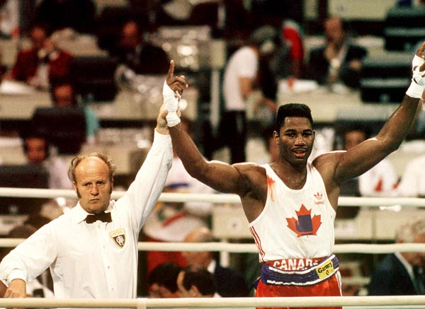 Photo of Olympics – 1984 Los Angeles – Super Heavywt Boxing – Lennox Lewis VS Mohammad Yousuf