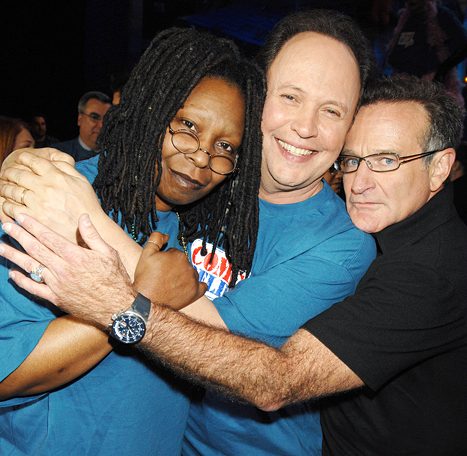 Photo of Comedy – Comic Relief – Robin Williams & Whoopie Goldberg & Billy Crystal
