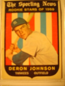 MLB - Original Baseball Card 1959 Sporting News NY Yankees Rookie Star OF Deron Johnson